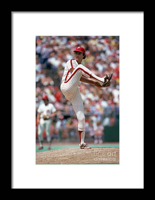 Baseball Pitcher Framed Print featuring the photograph Steve Carlton by Mlb Photos