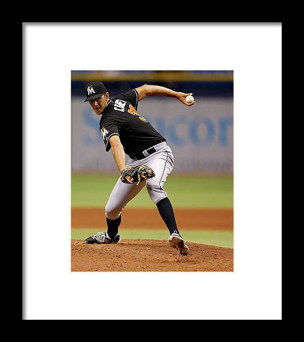 Ninth Inning Framed Print featuring the photograph Steve Cishek by Mike Carlson