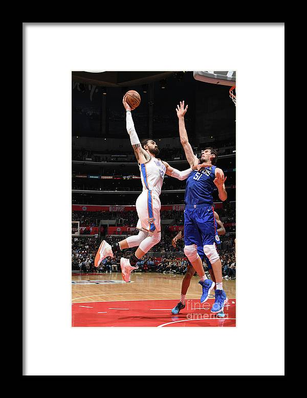 Nba Pro Basketball Framed Print featuring the photograph Steven Adams by Andrew D. Bernstein