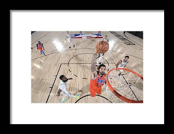 Nba Pro Basketball Framed Print featuring the photograph Steven Adams by Garrett Ellwood