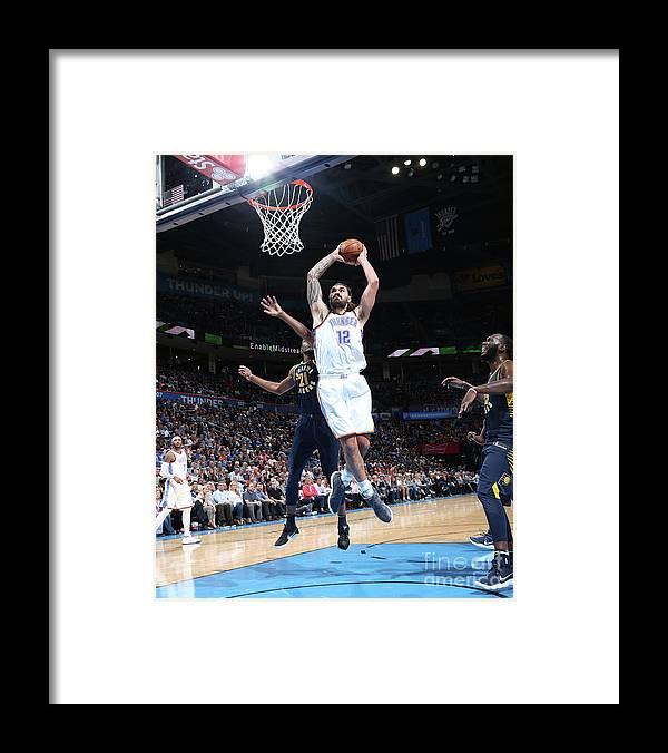Nba Pro Basketball Framed Print featuring the photograph Steven Adams by Layne Murdoch