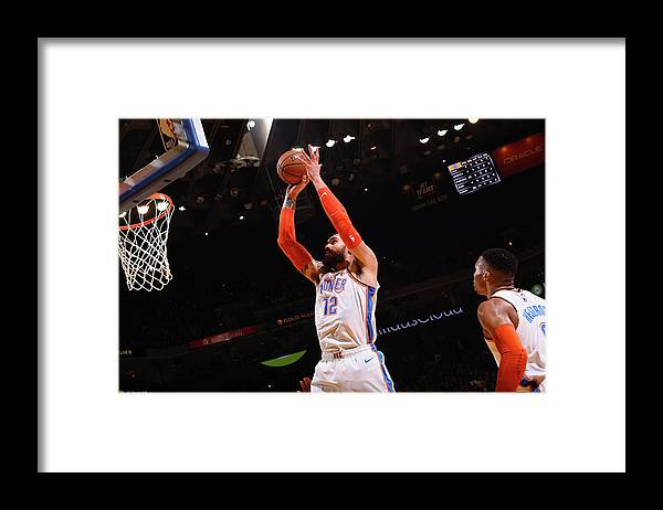 Nba Pro Basketball Framed Print featuring the photograph Steven Adams by Noah Graham