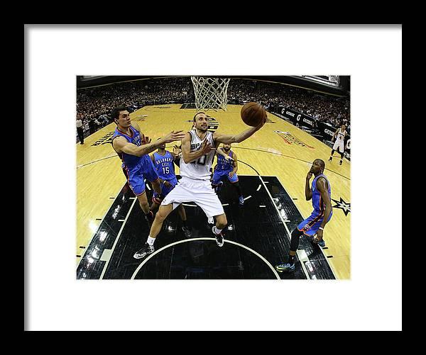 Playoffs Framed Print featuring the photograph Steven Adams by Ronald Martinez