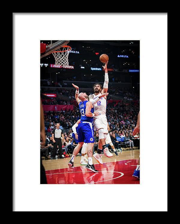 Nba Pro Basketball Framed Print featuring the photograph Steven Adams by Zach Beeker