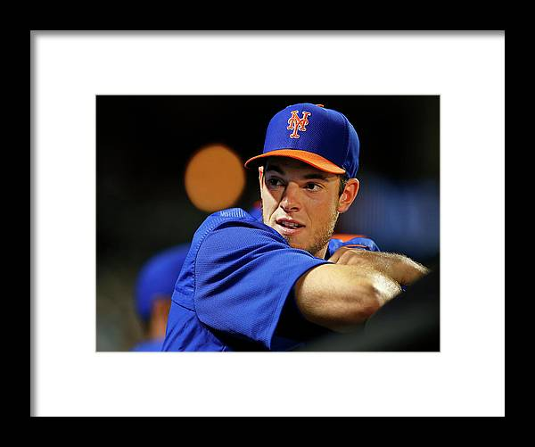 People Framed Print featuring the photograph Steven Matz by Rich Schultz