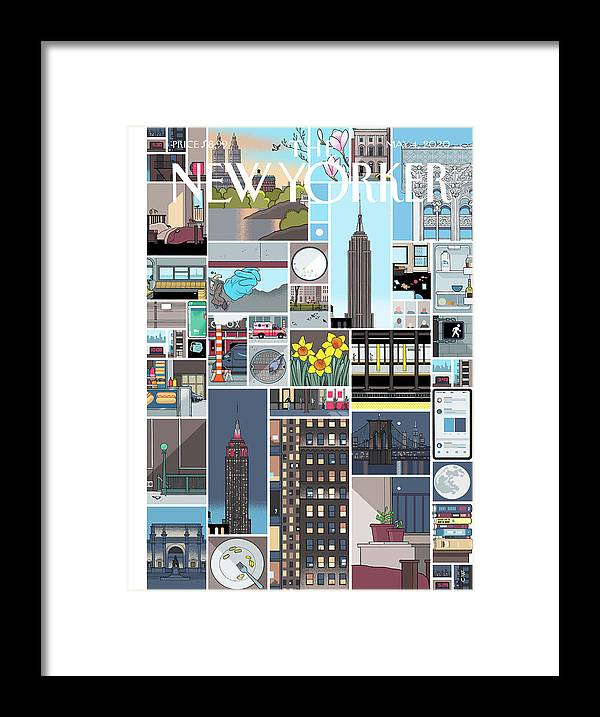 City Framed Print featuring the digital art Still Life by Chris Ware