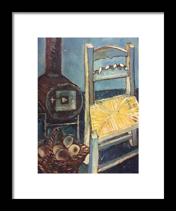 Interior Framed Print featuring the painting Stove and chair by Biagio Civale