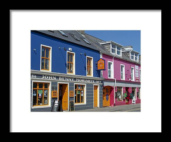 Irish Framed Print featuring the photograph Strand Street in Dingle Ireland by Teresa Mucha