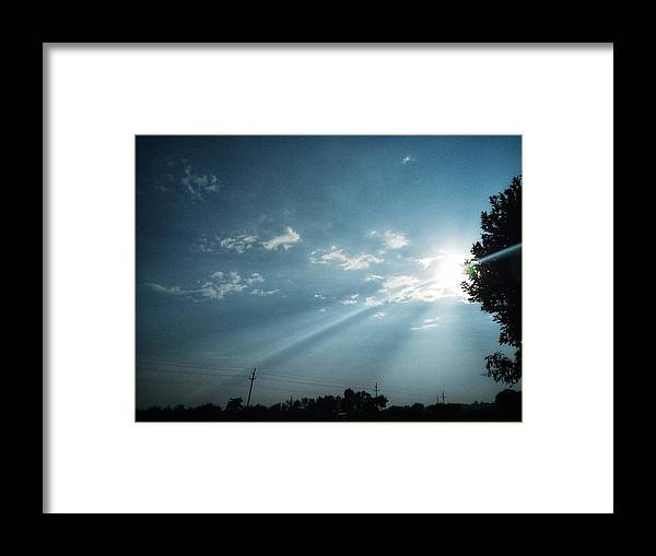 Sky Framed Print featuring the photograph Striking rays by Yvonne's Ogolla