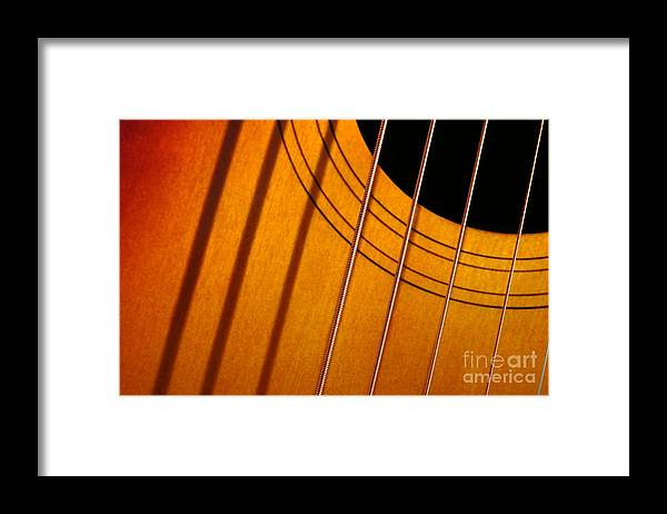 Guital Framed Print featuring the photograph String Composition by Dan Holm
