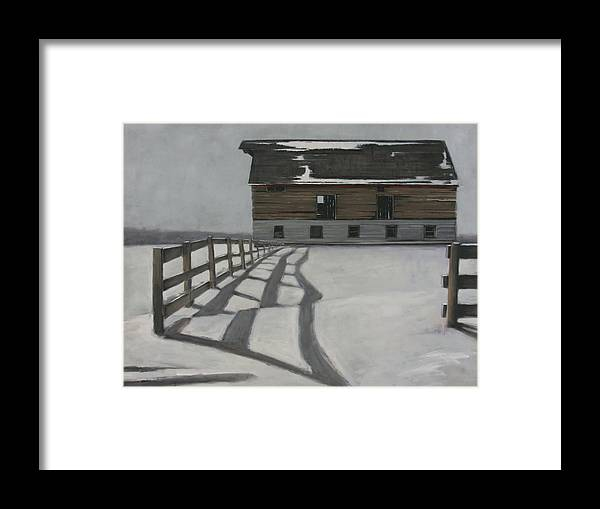 Framed Print featuring the painting Stripes by Mary Jo Van Dell