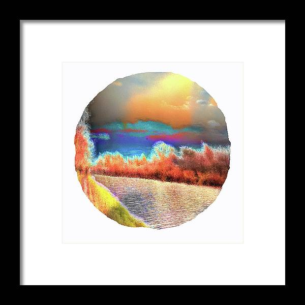 Sublime Waterside Abstract Landscape Framed Art Print by Onlythemoon