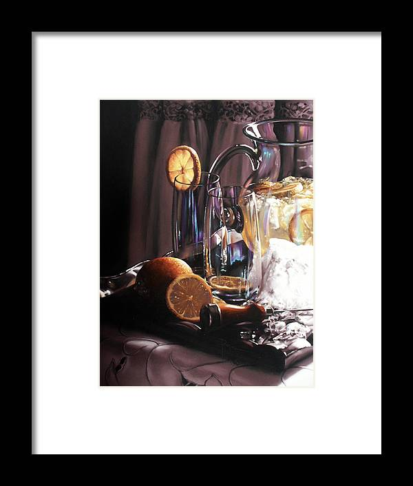 Lemons Framed Print featuring the painting Sunkist by Dianna Ponting