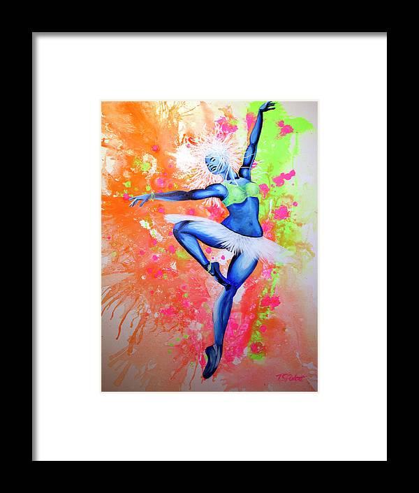 Jackson Framed Print featuring the painting Sunrise by PushPullArts Inc