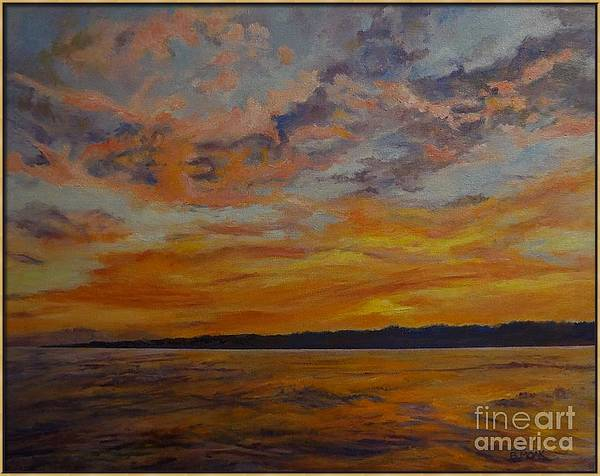 Sunset on Oneida Lake, New York by Barbara Moak