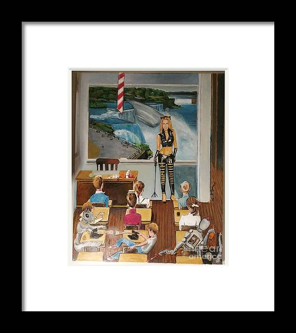 Ms.jones Framed Print featuring the painting Suprise by Jude Darrien