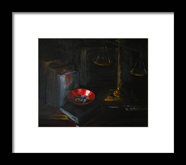 Art Framed Print featuring the painting Symbols Of Life by Patricia Awapara