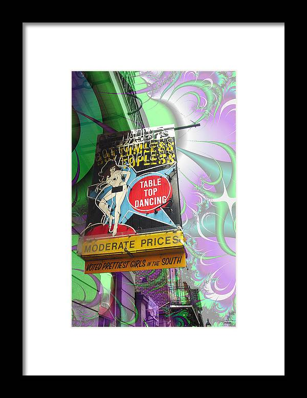 New Orleans Framed Print featuring the photograph Table Top Dancing by Linda Kish