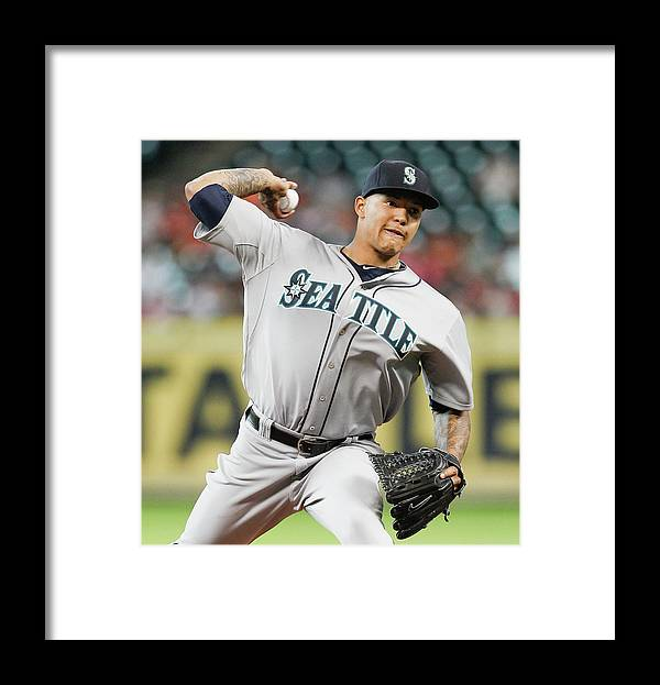 American League Baseball Framed Print featuring the photograph Taijuan Walker by Bob Levey