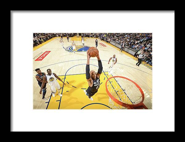 Nba Pro Basketball Framed Print featuring the photograph Taj Gibson by Noah Graham
