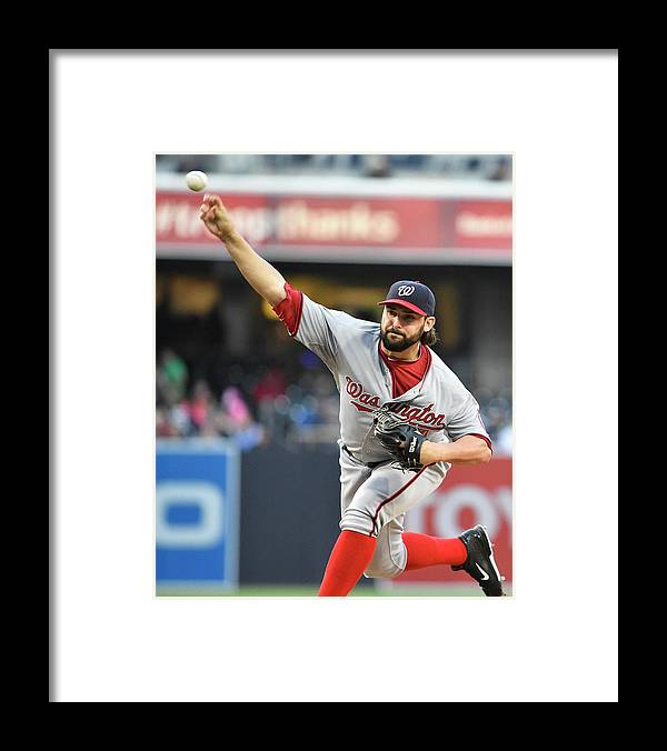 California Framed Print featuring the photograph Tanner Roark by Denis Poroy