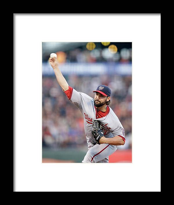 San Francisco Framed Print featuring the photograph Tanner Roark by Ezra Shaw