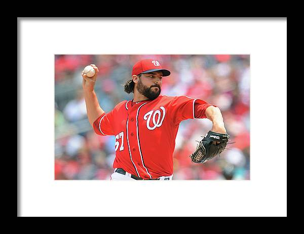 Baseball Pitcher Framed Print featuring the photograph Tanner Roark by Mitchell Layton
