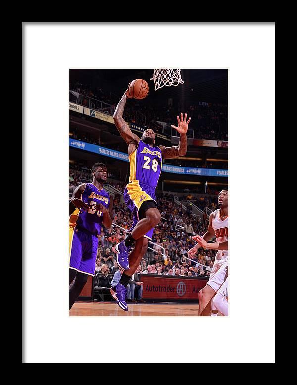 Nba Pro Basketball Framed Print featuring the photograph Tarik Black by Barry Gossage