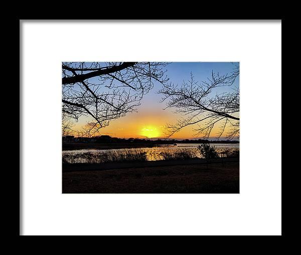 Sunset Framed Print featuring the photograph Tatebayashi Sunset by Kiyoto Matsumoto