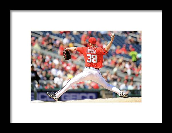 Baseball Pitcher Framed Print featuring the photograph Taylor Jordan by Mitchell Layton