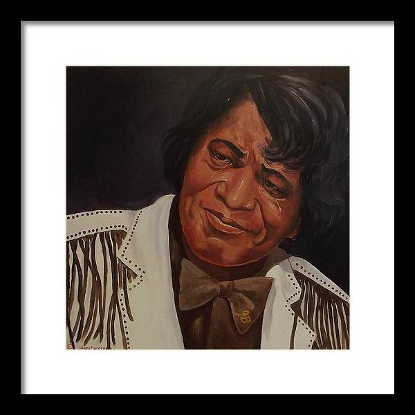 James Brown Framed Print featuring the painting Tears Of Joy by Wanda Dansereau