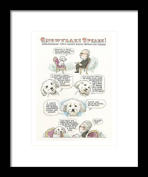 Ted Cruz's Dog Dishes Framed Print featuring the painting Ted Cruz's Dog Dishes by Barry Blitt