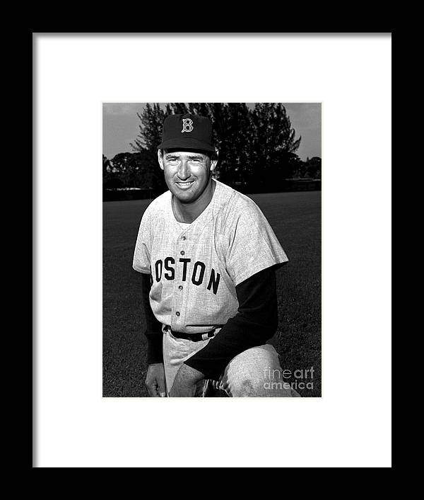 People Framed Print featuring the photograph Ted Williams by Olen Collection