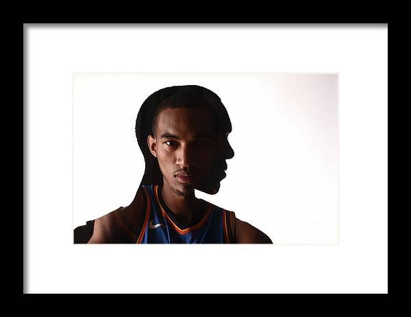 Nba Pro Basketball Framed Print featuring the photograph Terrance Ferguson by Brian Babineau