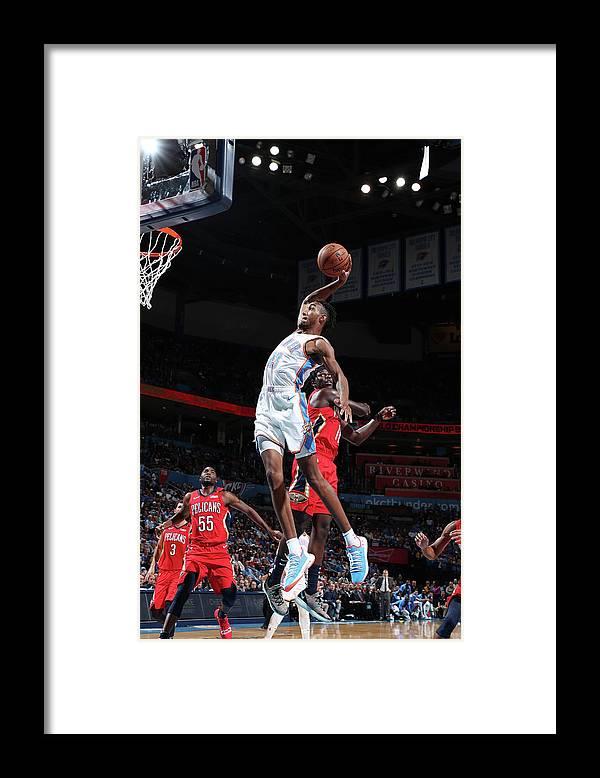 Nba Pro Basketball Framed Print featuring the photograph Terrance Ferguson by Joe Murphy