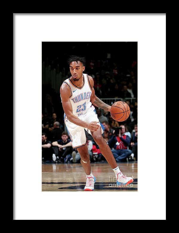 Nba Pro Basketball Framed Print featuring the photograph Terrance Ferguson by Ned Dishman