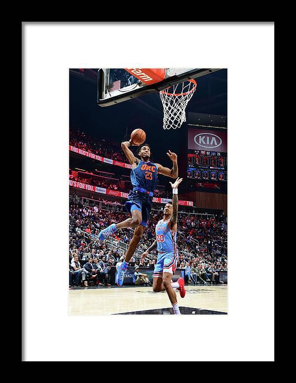 Atlanta Framed Print featuring the photograph Terrance Ferguson by Scott Cunningham