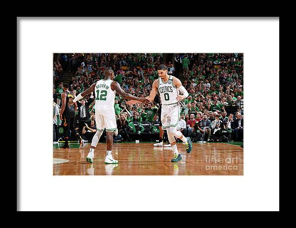 Playoffs Framed Print featuring the photograph Terry Rozier and Jayson Tatum by Brian Babineau