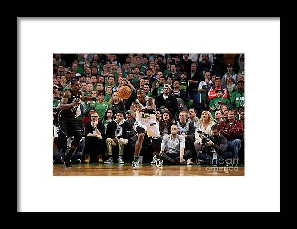 Playoffs Framed Print featuring the photograph Terry Rozier by Brian Babineau