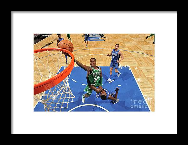Nba Pro Basketball Framed Print featuring the photograph Terry Rozier by Fernando Medina