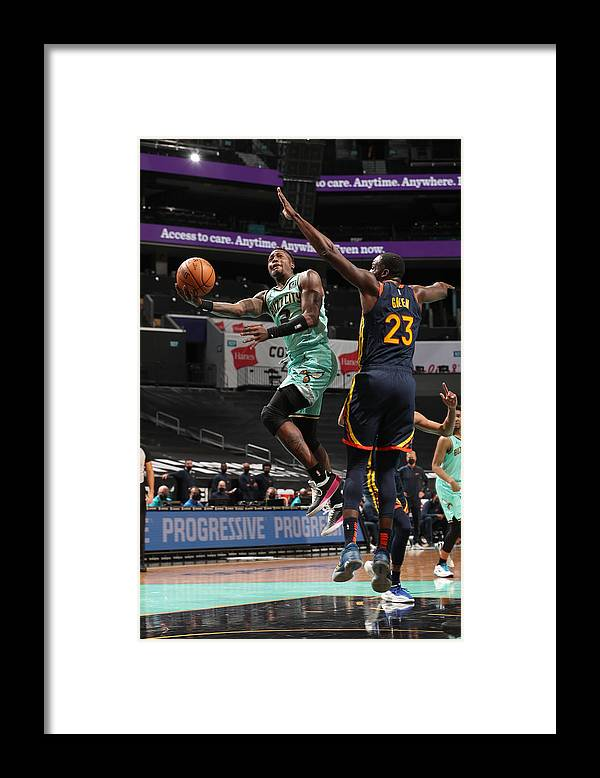 Nba Pro Basketball Framed Print featuring the photograph Terry Rozier by Kent Smith