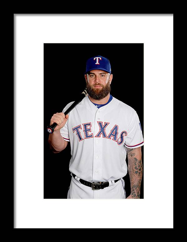 Media Day Framed Print featuring the photograph Texas Rangers Photo Day by Jamie Squire