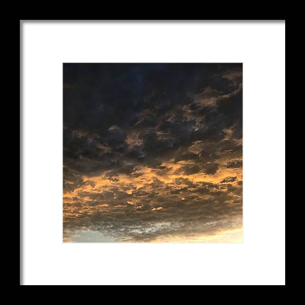 Framed Print featuring the photograph Texas Storm Clouds by Jose Machin
