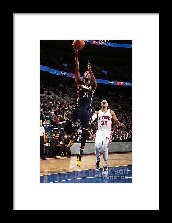 Nba Pro Basketball Framed Print featuring the photograph Thaddeus Young by Brian Sevald