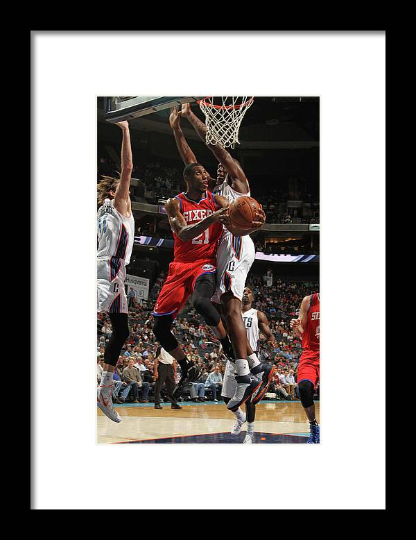 Nba Pro Basketball Framed Print featuring the photograph Thaddeus Young by Brock Williams-smith