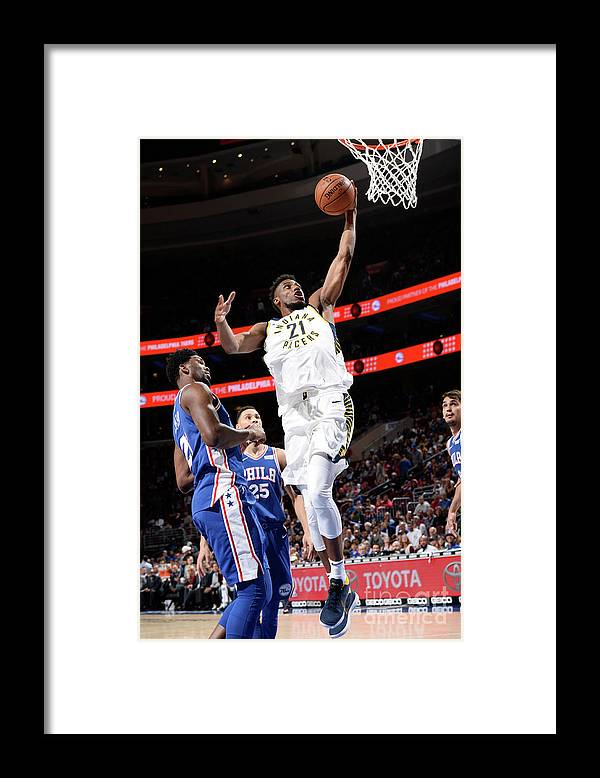 Nba Pro Basketball Framed Print featuring the photograph Thaddeus Young by David Dow