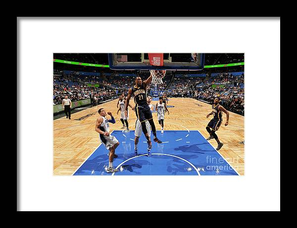 Nba Pro Basketball Framed Print featuring the photograph Thaddeus Young by Fernando Medina