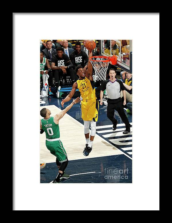 Playoffs Framed Print featuring the photograph Thaddeus Young by Jeff Haynes