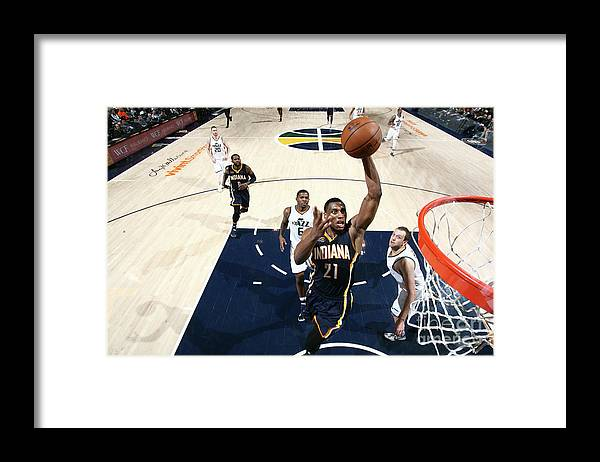 Nba Pro Basketball Framed Print featuring the photograph Thaddeus Young by Melissa Majchrzak
