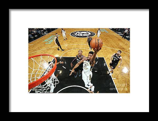 Nba Pro Basketball Framed Print featuring the photograph Thaddeus Young by Nathaniel S. Butler